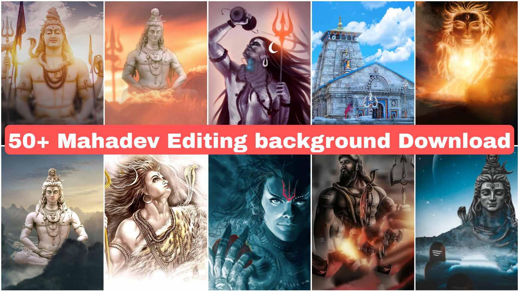 Mahadev editing background