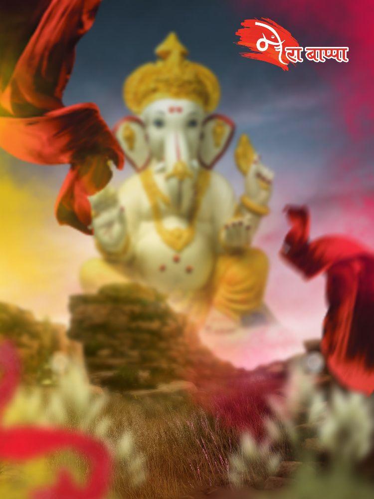 Chaturthi ganesha editing background bappa editing background