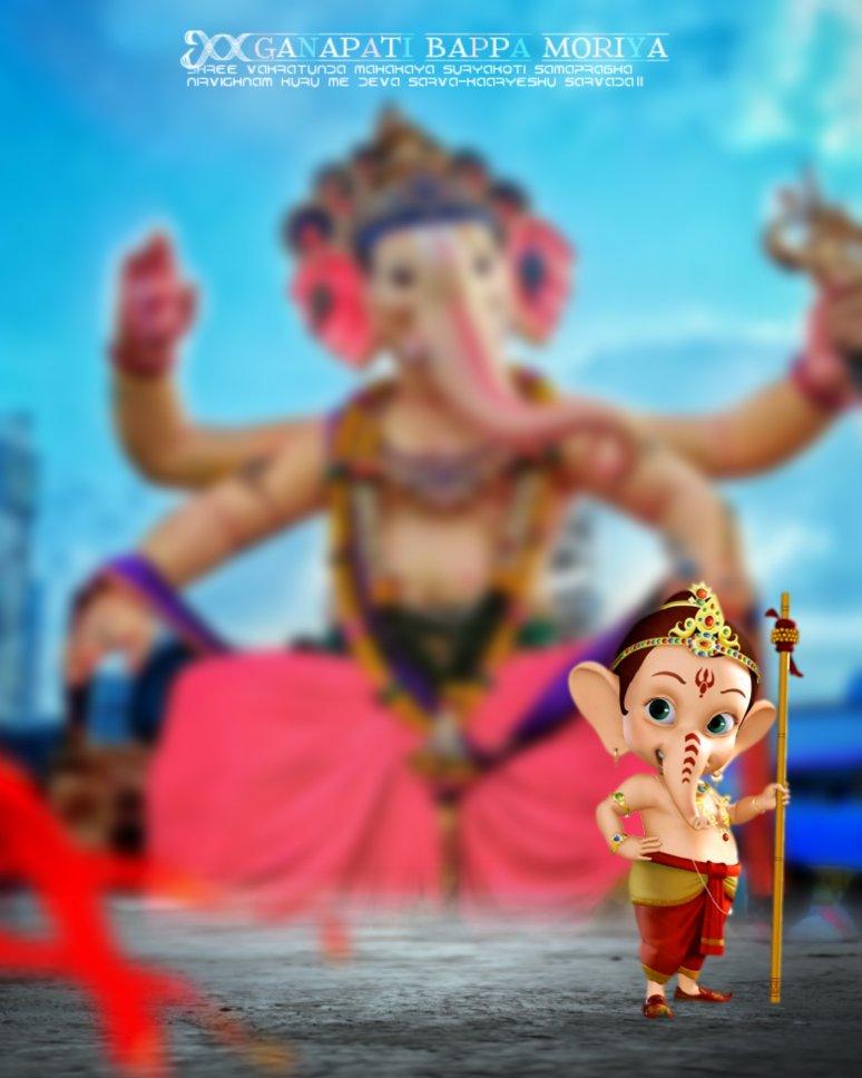 Ganpati bappa morya editing background || Ganesh editing background