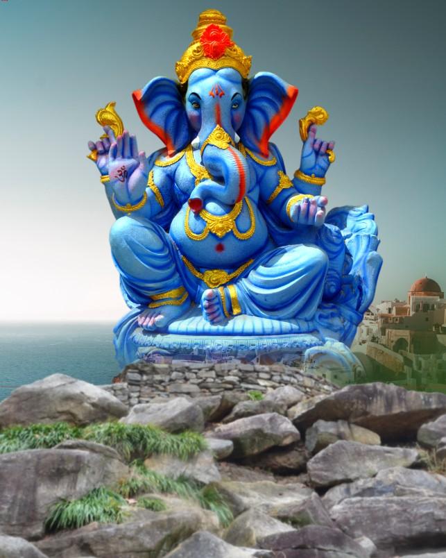 Ganesh chaturthi rock background _Rock Ganesh chaturthi