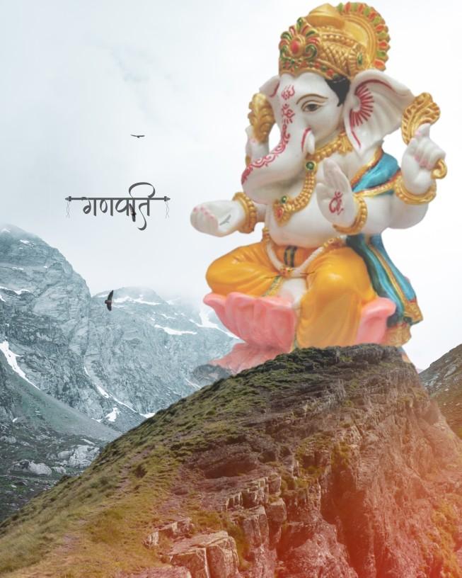 Ganpati bappa morya background_ganesh background