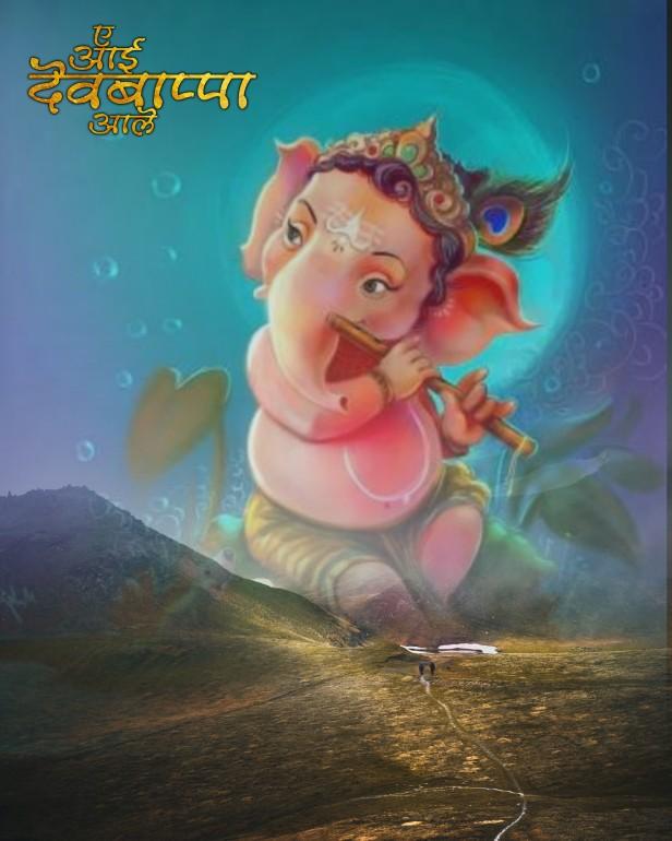 Little Ganesh background_little Ganpati background