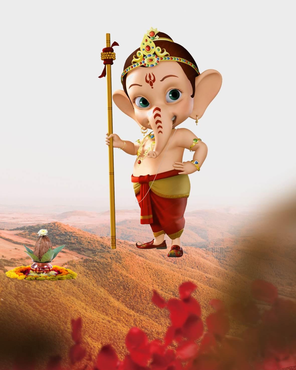 Bal Ganesh chaturthi background _bal Ganpati background