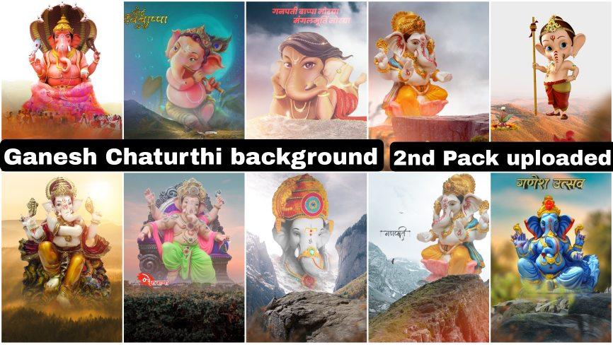 Ganpati thumbnail background