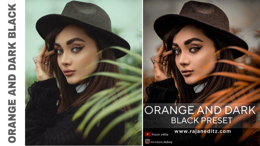 Orange and dark black Preset free download