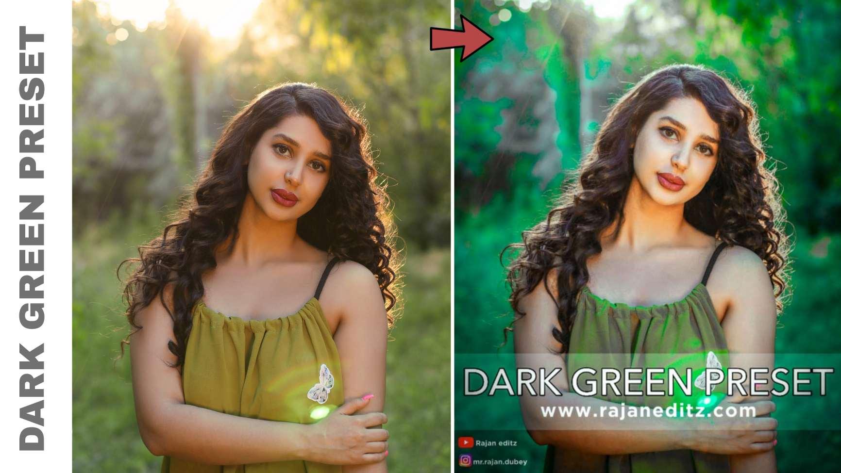 dark green preset __ lightroom free preset download