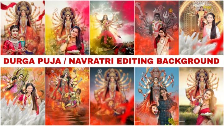 navratri background download free__Durga Puja editing background